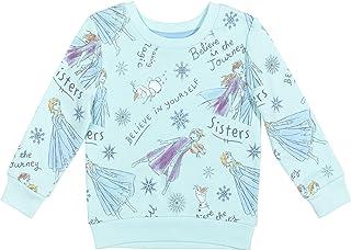 Disney Frozen Elsa Anna Olaf Girls French Terry Pullover Sweatshirt