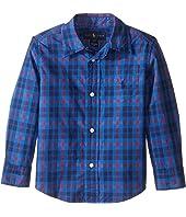 Polo Ralph Lauren Kids - Poplin Long Sleeve Button Down Shirt (Toddler)