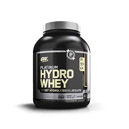 OPTIMUM NUTRITION Platinum Hydrowhey Protein Powder, 100% Hydrolyzed Whey Protein Isolate Powder, Flavor