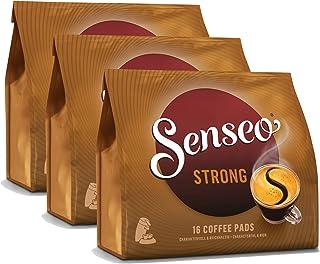 Senseo Strong / Dark Roast, New Design, Pack of 3, 3 x 16 Coffee Pods