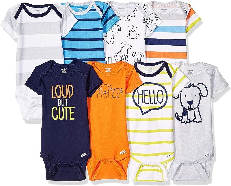 Onesies Brand Baby Boys 8 Pack Short Sleeve Bodysuit
