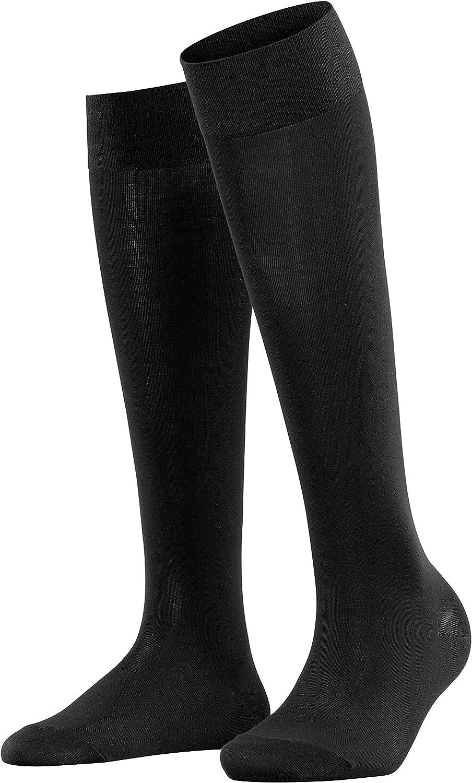 FALKE Womens Cotton Touch Knee-High Socks Cotton Beige Black Blue Brown 1 Pair