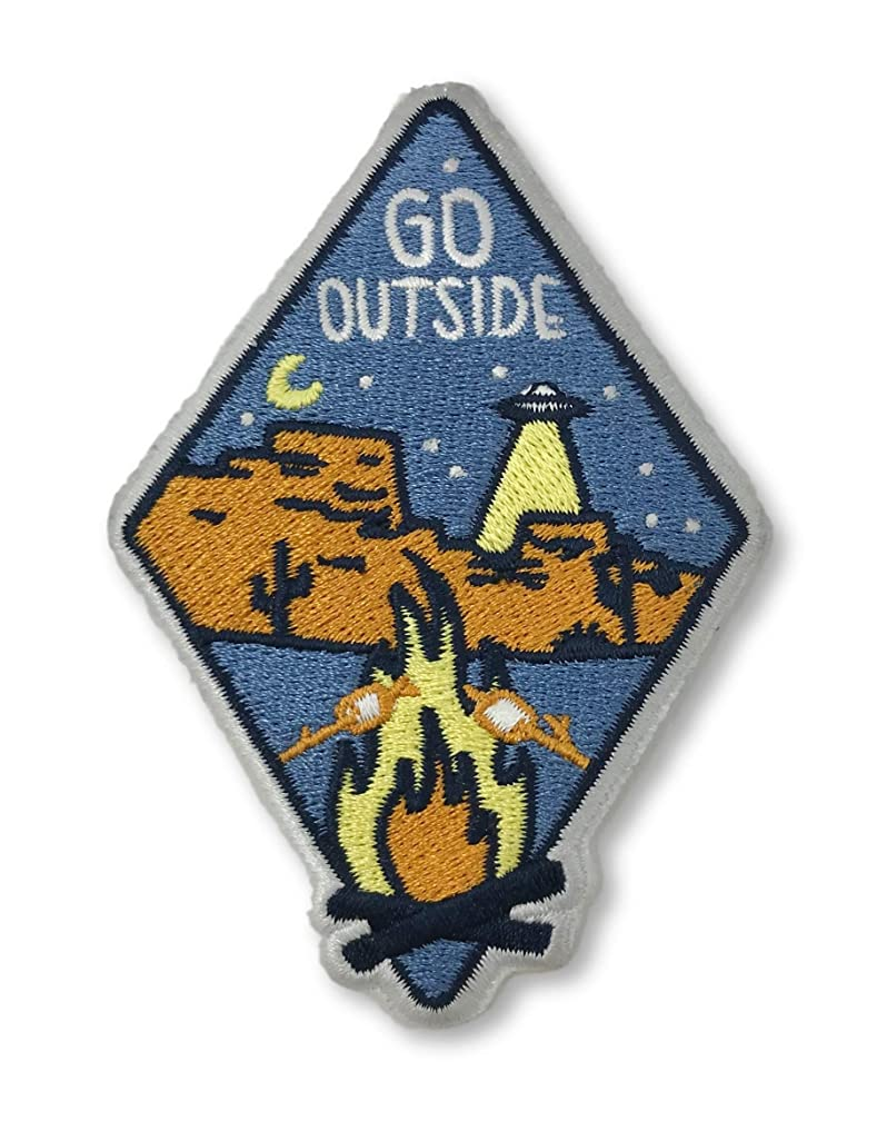 O'Houlihans - Go Outside Iron on Patch - Hiking, Camping, Travel, Adventure Patch