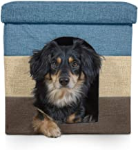 Furhaven Pet Dog Bed | Felt Pet House Private Hideout Den & Collapsible Pop Up Living Room Ottoman Footstool Condo for Cats & Small Dogs - Available in Multiple Colors & Styles