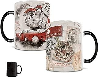 Morphing Mugs Harry Potter Platform 9 and 3/4 (3 quarters) Hogwarts Express Heat Reveal Ceramic Coffee Mug - 11 Ounces