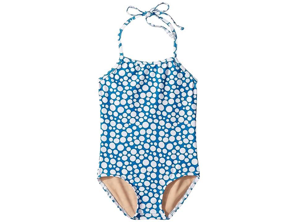 Toobydoo Blue Dot One-Piece Swimsuit (Infant/Toddler/Little Kids/Big Kids) (Blue) Girl