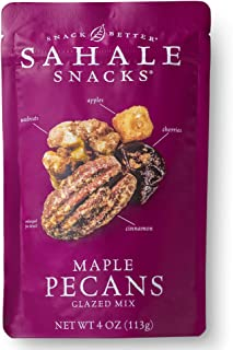 Sahale Snacks Maple Pecans Glazed Mix, 4 Ounces (Pack of 6)