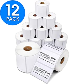 "Aegis Adhesives - 3"" X 2"" Direct Thermal Labels for Shipping, Postage, Perforated & Compatible with Rollo Label Printer & Zebra Desktop Printers (12 Rolls, 700/Roll)"