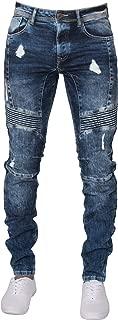 New ENZO Mens Super Skinny Stretch Ripped Denim Biker Jeans All Waist Sizes