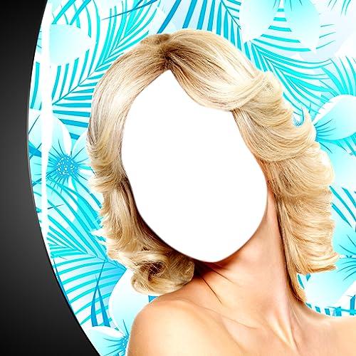 Estilo de cabelo da mulher Montagem de fotos
