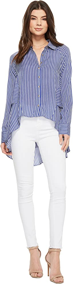 American Rose - Joslyn Long Sleeve Button Up Top
