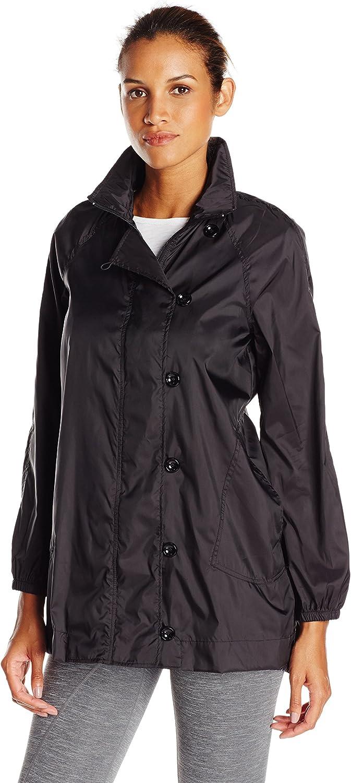 Karen Kane Womens Active Long Jacket Rain Jacket