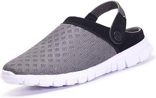 Zapatillas de Jardin Mujer Sandalias de Playa Hombre Zuecos de Sanitarios Zapatillas Ligeros Malla Zapatos Verano,Tallas 3...