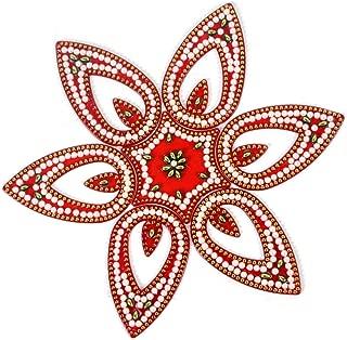 Amba Handicraft Rangoli/Home Decor/Diwali/Gift for Home/Interior Handcrafted/Floor Stickers/Wall Stickers/Wall Decoration/Floor Decoration/New Year Gift/Party. Rangoli 198