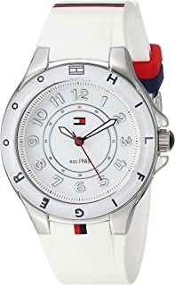 Tommy Hilfiger Women s 1781271 Stainless Steel Watch with White Silicone  Band edf59ebd296