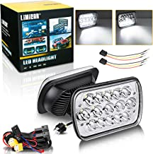 LIMICAR Led Headlights 7X6 Headlights 5X7 Headlights H6054 Led HeadlampsHi/Low Sealed Beam Led Headlight wi/ H4 Headlight Relay Harness Kit For Toyota Tacoma Pickup 4Runner Chevy Express Van (Pack 2)