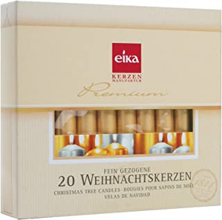 Eika Golden Christmas Tree Candles - Gold - 4 Inches - Made in Germany - (Set of 20)