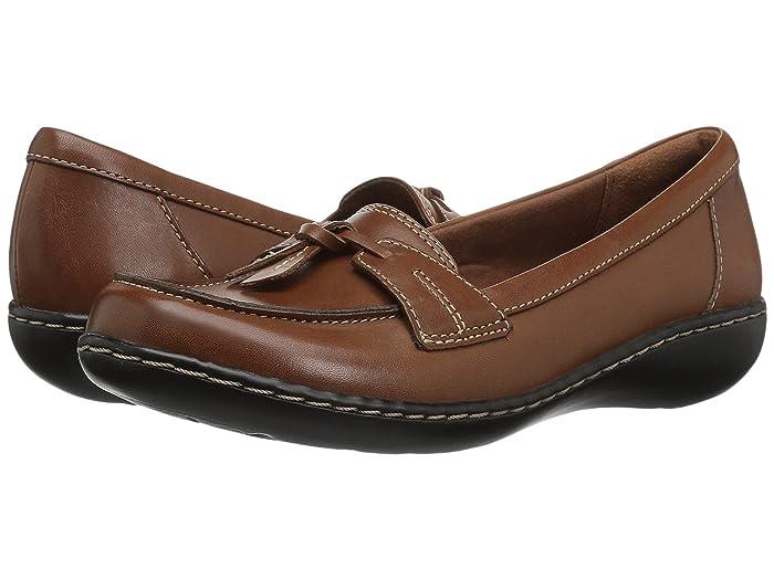 Clarks  Ashland Bubble (Tan Leather) Womens Slip on  Shoes