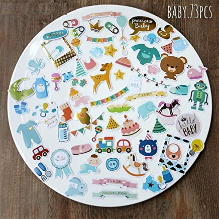 Hello Baby Die Cuts Stickers for Scrapbooking Happy Planner/Card Making/Journaling Project 73pcs