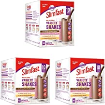 SlimFast High Protein Powder Meal Replacement Variety Shake Sachets Assorted Box Pack of 3 Boxes 30 Sachets Estimated Price : £ 19,20