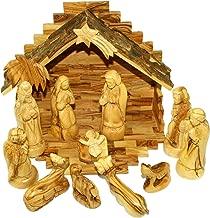 Holy Land Market Olive Wood Nativity Set - Traditional Carving