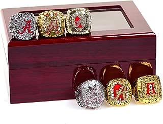 HASTTHOU Set of 6 Alabamas Championship Ring by Display Box Set