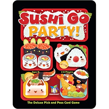 Gamewright 419 Sushi Go Party - The Deluxe Pick and Pass Card Game, Multicolour