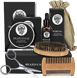 Beard Kit for Beard Growth, Bead Care and Beard Grooming, Men Beard Conditioner with Organic Beard Growth Oil, Beard Balm,...