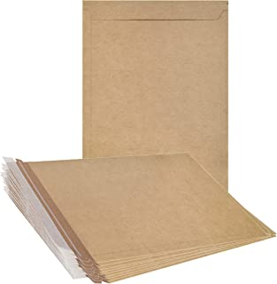 ABC 10 Pack Natural Kraft Stay Flat Mailers 13 x 18 Brown Chipboard envelopes 13x18. Rigid Paperboard mailers. Photography Mailers. X-Large Size. No Bend documents, Photo, Prints. Peel and Seal