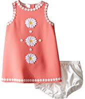 Dolce & Gabbana Kids - Wool Crepe Floral Dress (Infant)