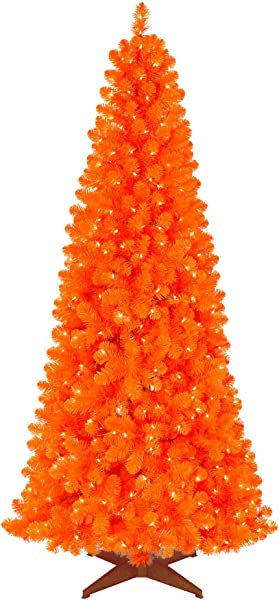 Treetopia Basics Orange Tree 6 Feet Clear Lights