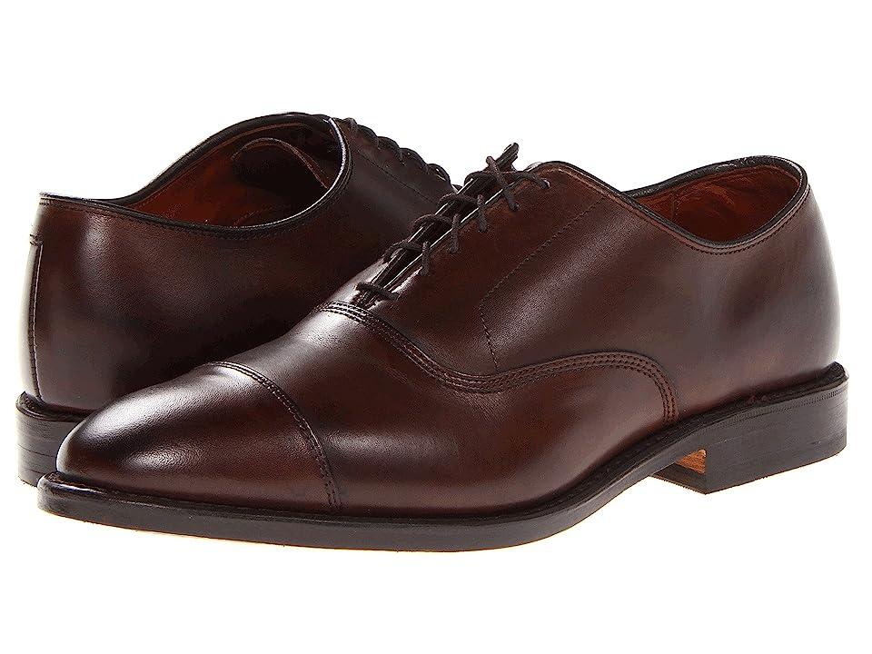Mens Vintage Style Shoes & Boots| Retro Classic Shoes Allen Edmonds Park Avenue Dark Brown Burnished Calf Mens Lace Up Cap Toe Shoes $394.95 AT vintagedancer.com