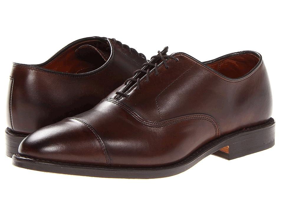 1920s Boardwalk Empire Shoes Allen Edmonds Park Avenue Dark Brown Burnished Calf Mens Lace Up Cap Toe Shoes $394.95 AT vintagedancer.com