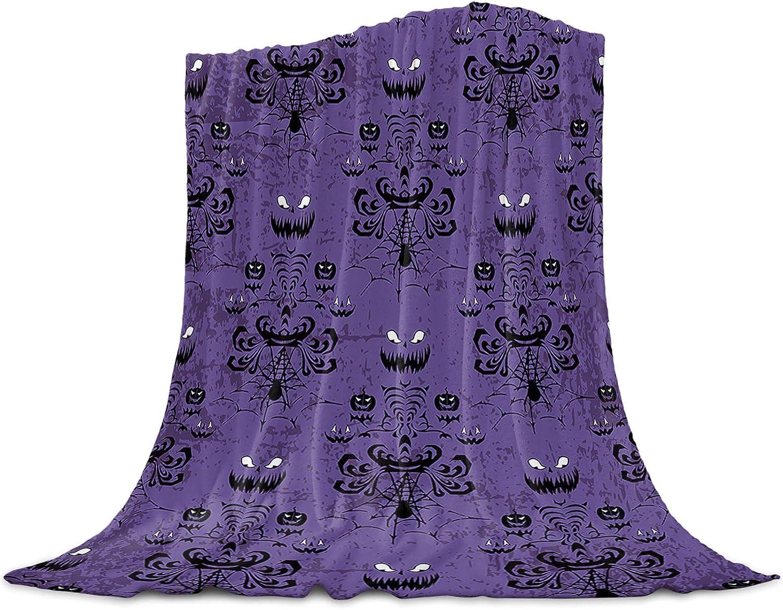 Chic D shipfree Halloween Flannel Fleece Bed inch online shopping 60 x Blanket Purple 50