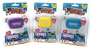 Worlds Coolest Toys Fingerlings Keychain Play Set 3 Pack Bundle - Merry-Go-Round - Rope Bridge - Teeter Totter