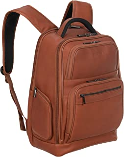 "Kenneth Cole Reaction Full-Grain Colombian Leather 16"" Laptop & Tablet Business Backpack RFID Travel Computer Bookbag, Cog..."