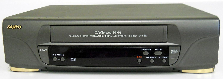 Sanyo VHR-H607 Video Cassette Recorder Player VCR w/ DA 4 Head Hi Fi Stereo