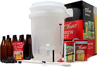 Coopers DIY Beer Home Brewing 6 Gallon All Inclusive Craft Beer Making Kit with Patented Brewing Fermenter, Beer Hydrometer, Brewing Ingredients, Bottles and Brewing Accessories