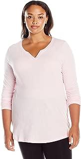 Women's Plus Size Split Neck Tunic