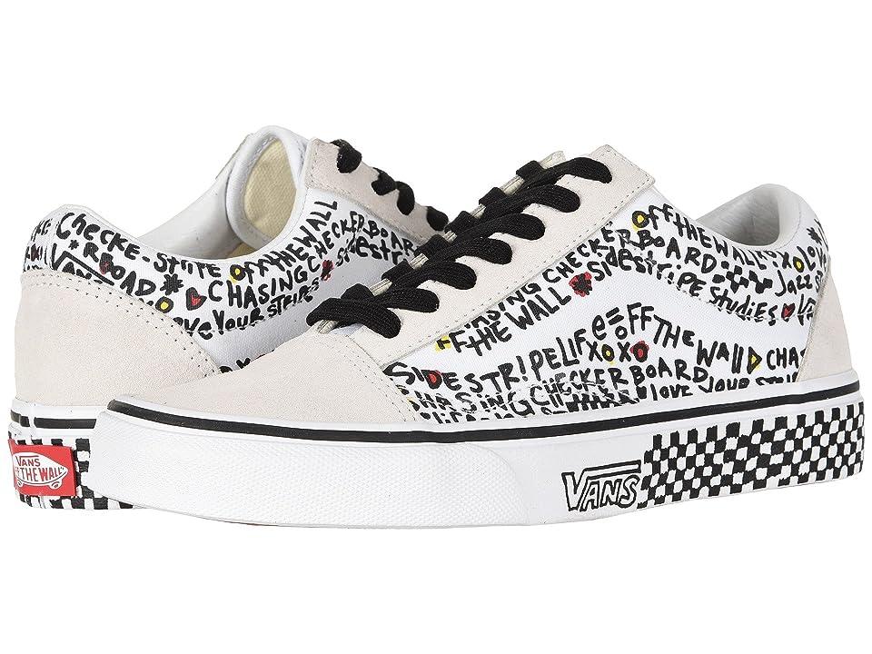 Vans UA Old Skool ((Diy) Black/True White) Shoes
