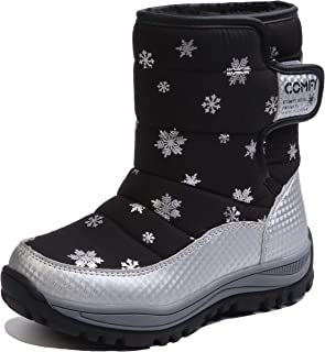 Beautoday Boys Girls Outdoor Waterproof Cold Weather Winter Snow Hiking Ankle Boots(Little Kid/Big Kid)