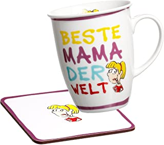 Ritzenhoff & Breker Best Mugs Coffee Mug, Cup, Motif: Beste Mama (Best Mum), Magenta, 24685