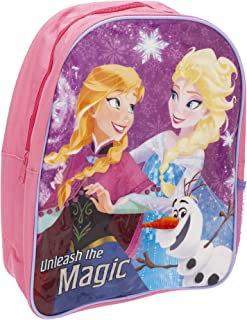 Frozen Childrens Girls Anna And Elsa Character Backpack (UK Size: One Size) (Pink)