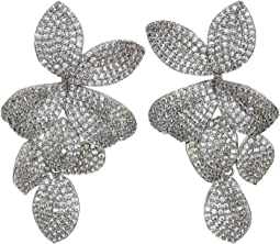 Floral CZ Pave Earrings