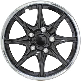Pilot WH522-16C-B Universal Fit Black and Chrome  16 Inch Wheel Covers - Set of 4