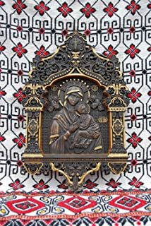 Our Lady of Perpetual Help Orthodox Icon religious wedding anniversary gift Wood Carved religious wall decor FREE ENGRAVING FREE SHIPPING