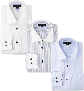 [タカキュー] ワイシャツ 形態安定 抗菌防臭 スリムフィット 長袖シャツ 3枚セット 【WEB限定販売】 メンズ