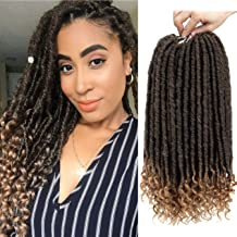 6 Packs/Lot 16 Inch Faux Locs Crochet Twist Hair With Curly Ends Goddess Locs Synthetic Braiding Hair Extensions Dreadlocks Crochet Locs Low Temperature Braids Hair 24 Strands/Pack (16