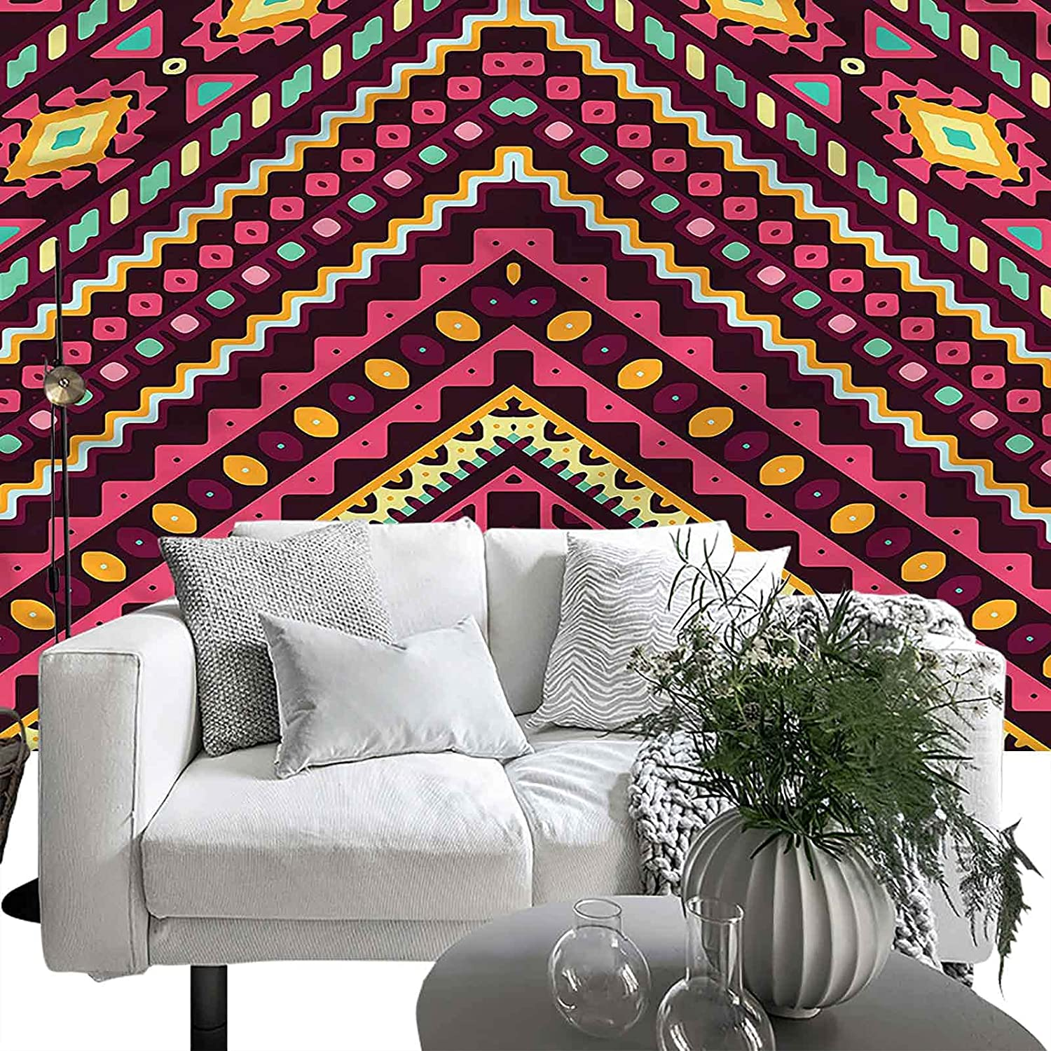 Removable Large Max 57% OFF Sticker Foil Native Pattern Chevron American Outstanding 66x