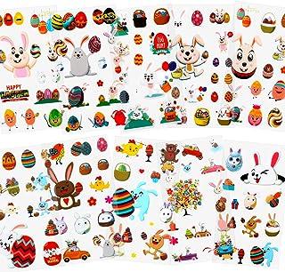 HOWAF Paques Stickers Autocollants en Vinyle pour Enfants, gomettes Autocollantes Enfant, DIY Craft Art Faire de la Décora...